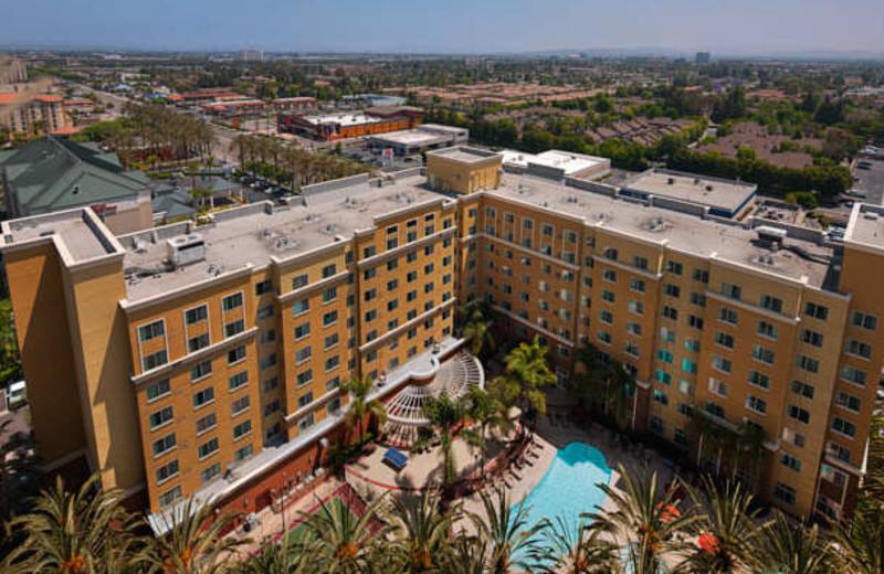 Outdoor pool at Residence Inn-Anaheim Resort.