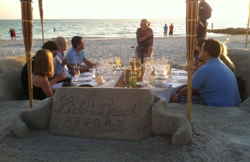 Beach Dining at Lido Beach Resort