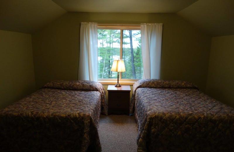 Lodge bedroom at Buckhorn Resort.