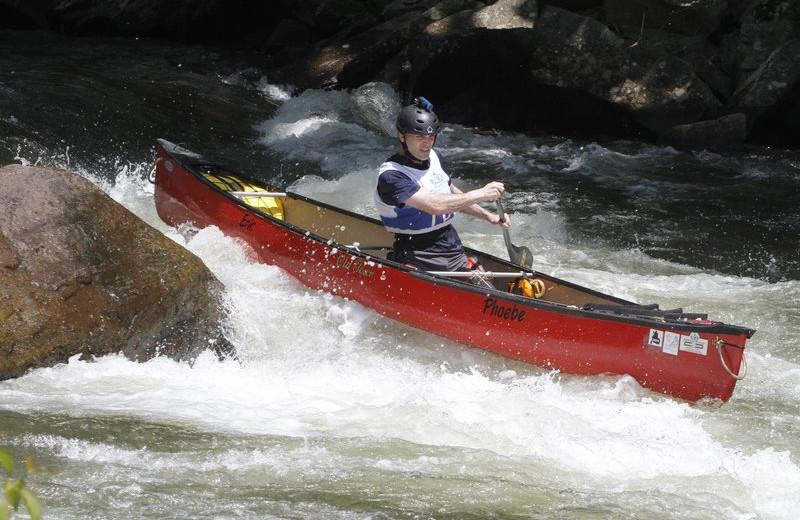 Whitewater Canoeing at Nantahala River Lodge.