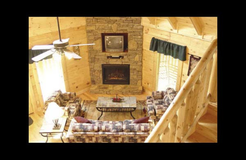Cabin living room at Eden Crest Vacation Rentals, Inc. - Quittin Time.