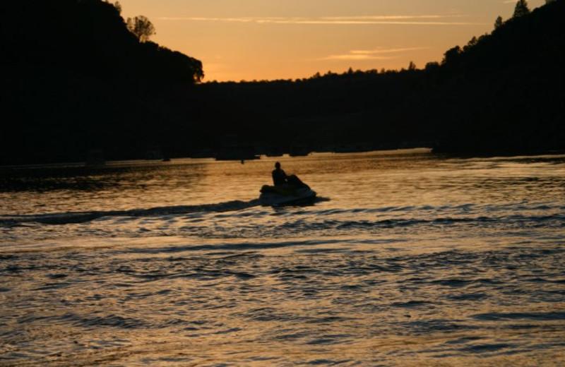 Sunset at Lake Oroville.