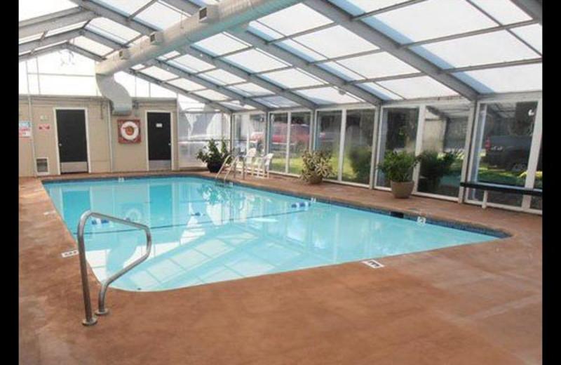 Hotel indoor pool at Surfrider Resort.