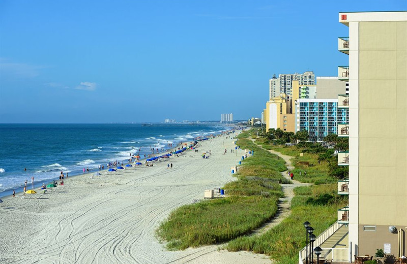 The beach at Westgate Myrtle Beach.