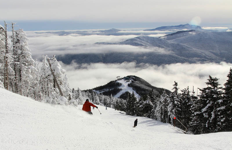 Skiing at The Whiteface Lodge.