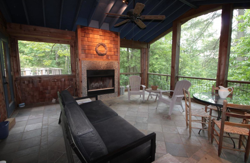 Rental porch at Chambers Realty & Vacation Rentals.