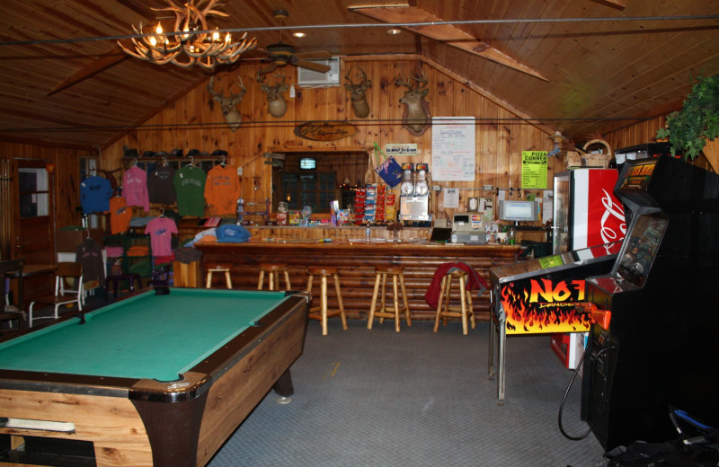 Rec room at The Lodge on Otter Tail Lake.