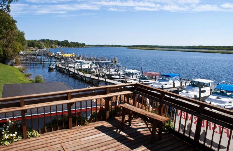 Marina at River Bend's Resort & Walleye Inn.