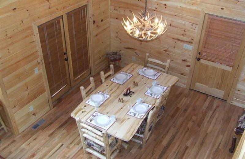DINING AREA AT CROCKETT MTN LODGE
