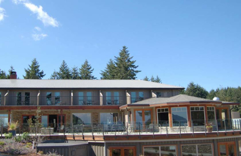 Exterior view of Mayne Island Resort and Spa.