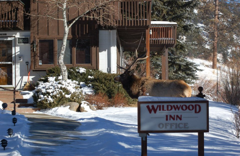 Exterior View with Sign at  Wildwood Inn