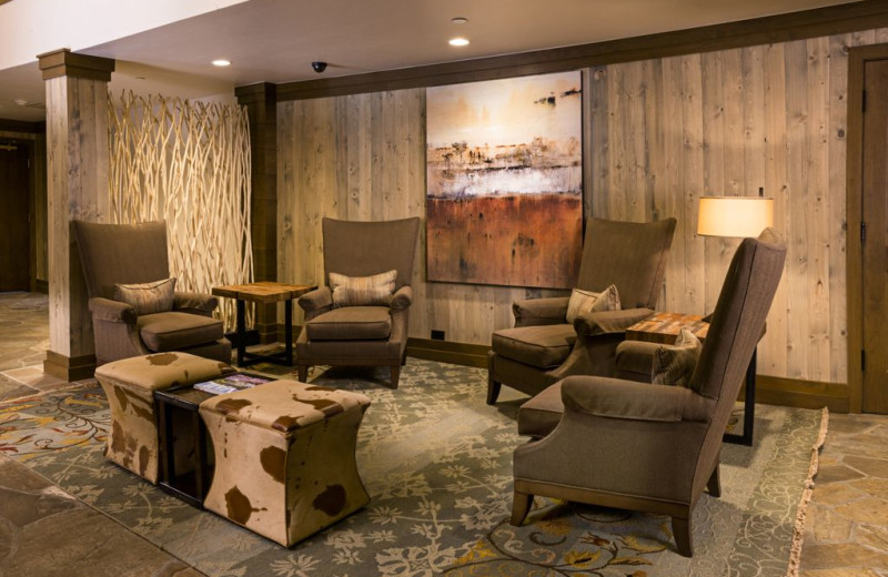 Lobby sitting area at Vail Mountain Lodge & Spa