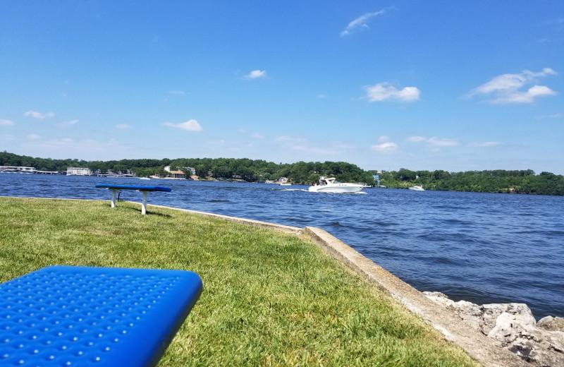 Lake view at Robin's Resort.