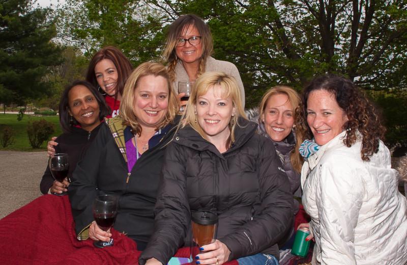 Hayride during a Girls' Getaway Weekend