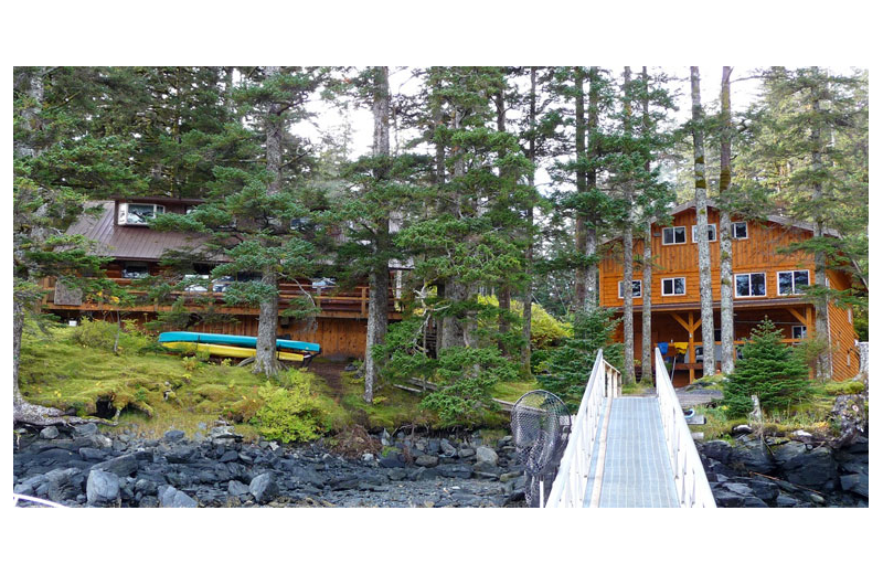 Exterior view of Afognak Wilderness Lodge.