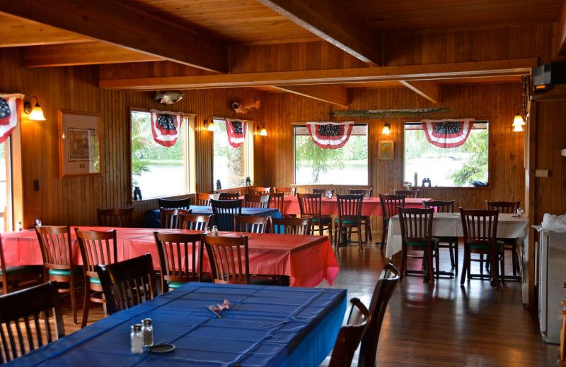 Dining room at The Fireweed Lodge.
