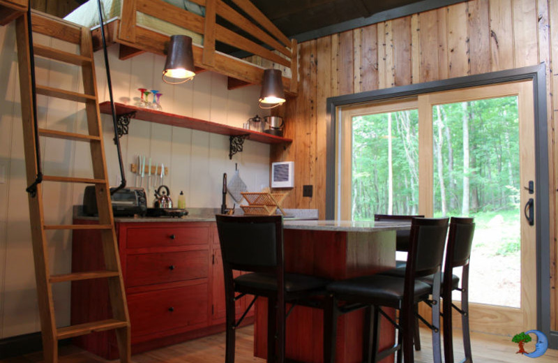 Guest kitchen at Blue Moon Rising.