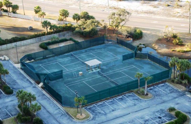 Tennis court at Beach Colony Resort.