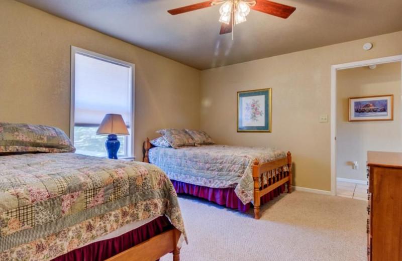 Bedroom at Moores Hidden Cove Retreat.