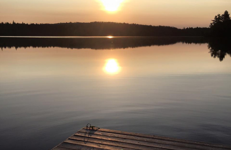 Sunset at Bartlett Lodge.