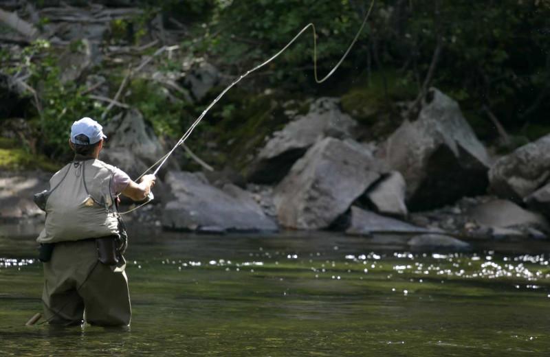 Fishing at Hardscabble Ranch.