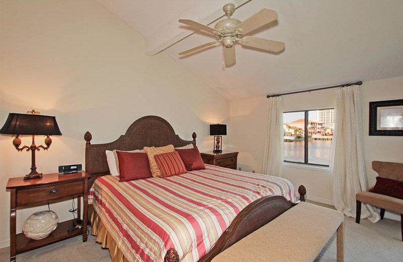 Condo bedroom at Shoreline Towers.