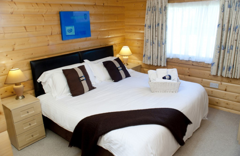 Guest room at Cottesmore Lodges.