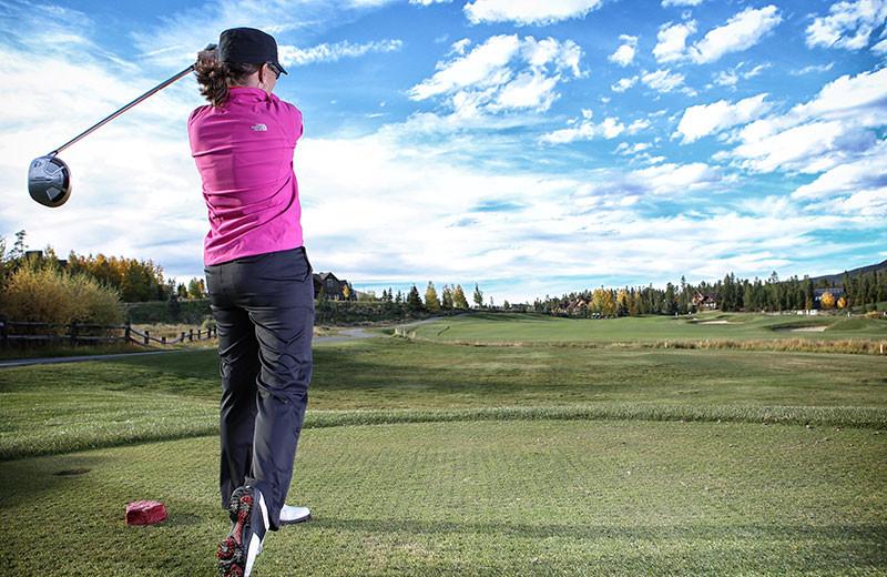 Golf near Grand Lodge on Peak 7.