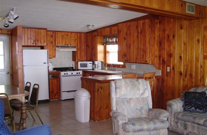 Lakeview kitchen at Ten Mile Lake Resort.