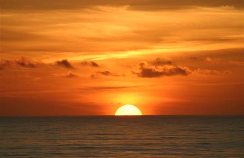 Beach sunset at St. Augustine Ocean & Racquet Resort.