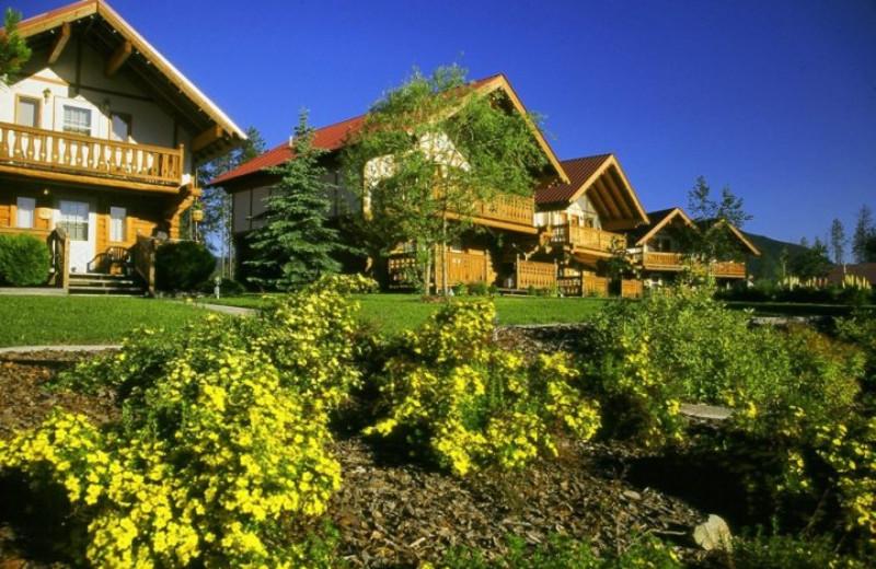Cabins exterior at Great Northern Resort.