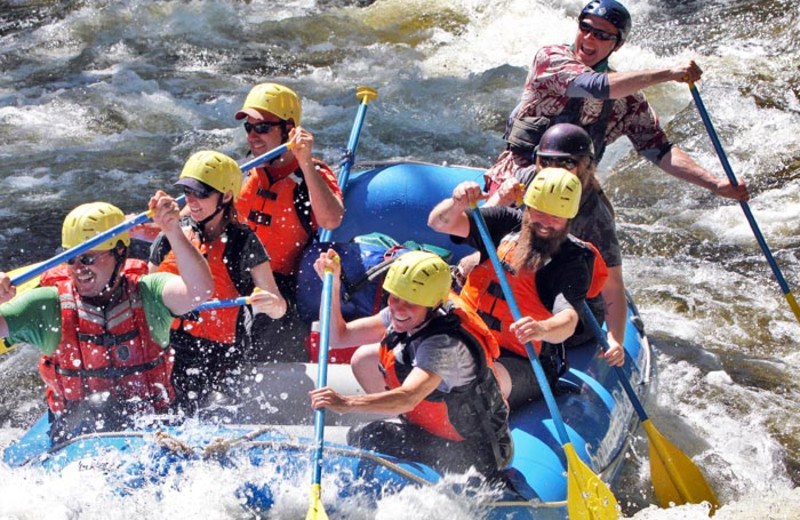 River rafting at Garnet Hill Lodge.