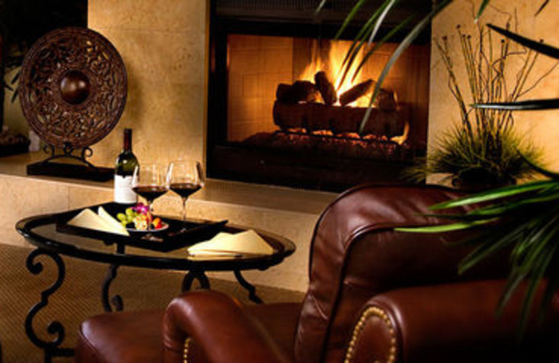 Presidential Suite Fireplace at Rancho Las Palmas Resort