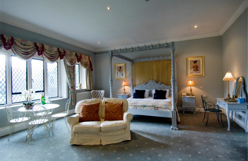 Bridal suite at Miskin Manor.