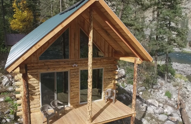 Cabin exterior at Salmon River Tours.