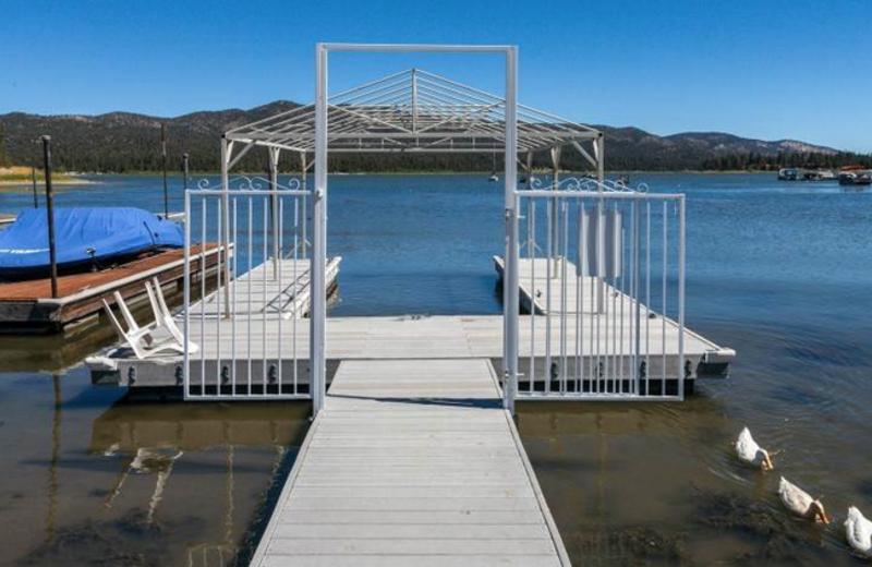 Rental dock at Big Bear Cool Cabins.