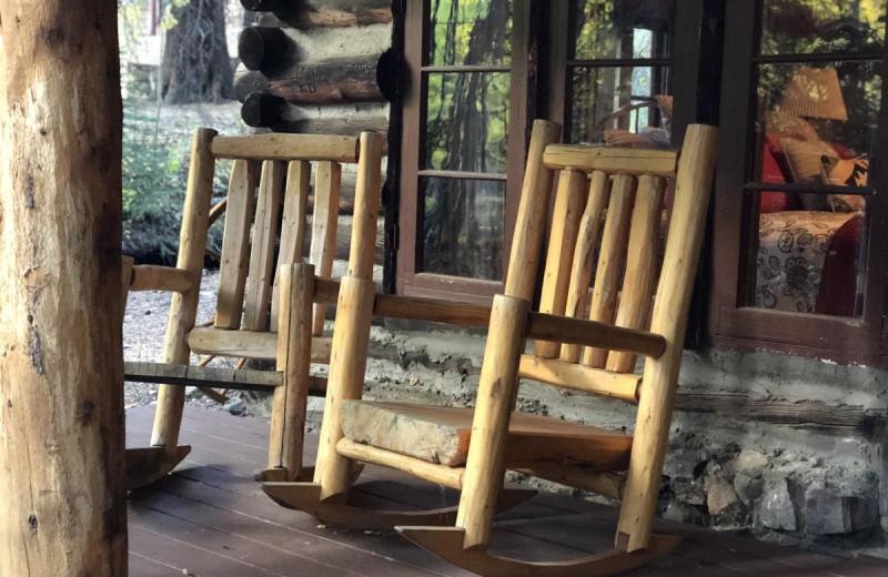 Porch at Tumbling River Ranch.