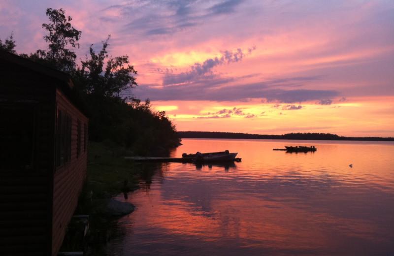 Cabin at Maynard Lake Lodge and Outpost.