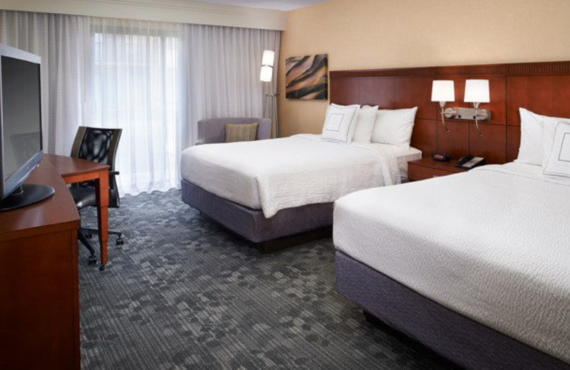 Guest room at Courtyard by Marriott Detroit Warren.
