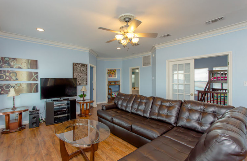 Rental living room at Ryson Vacation Rentals.