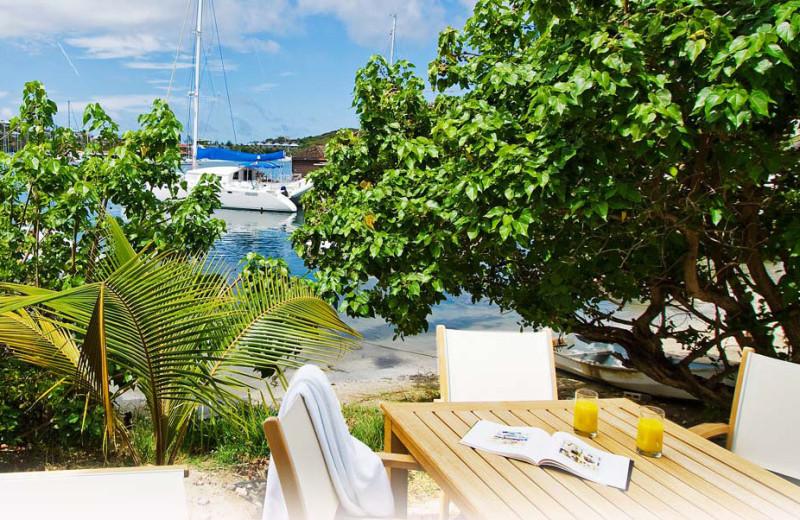 Patio view at Coral Beach Club.