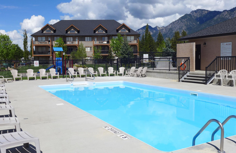 Outdoor pool at Bighorn Meadows Resort.