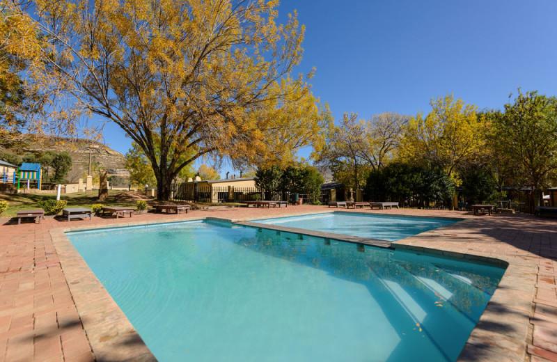 Outdoor pool at Kiara Lodge.