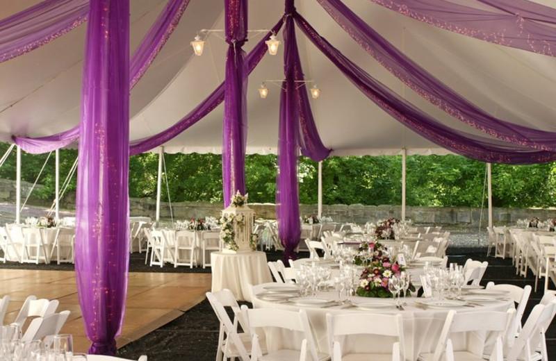 Wedding setup view at Seascape Resort.