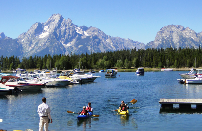 Lake activities at Jackson Lake Lodge.