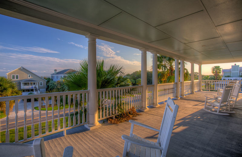Rental balcony at Exclusive Properties - Isle of Palms.