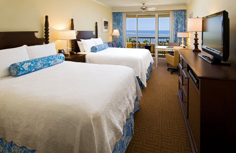 Guest room at The King and Prince Beach.