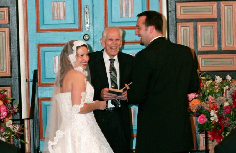 Wedding Ceremony at La Fonda on the Plaza