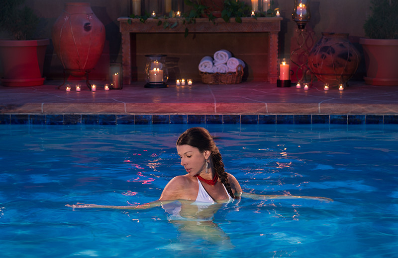 Spa pool at Eldorado Hotel.