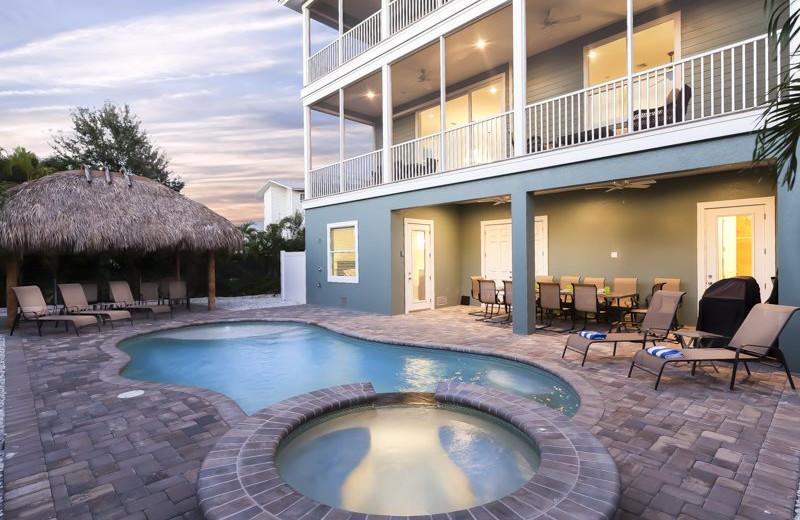 Rental pool at Sun Palace Vacation Rentals.